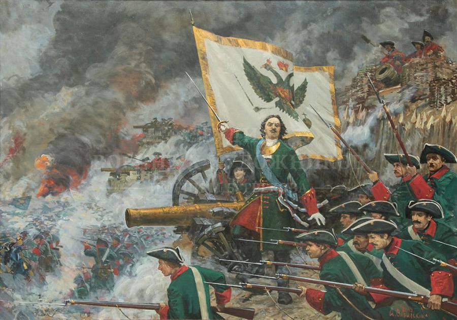 Хитрость Петра в Полтавской битве