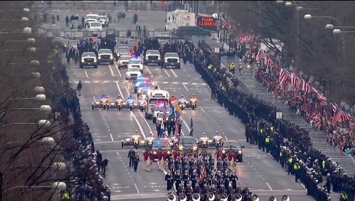 В Брюсселе через каждые 20 метров на пути кортежа Трампа выставили полицейских