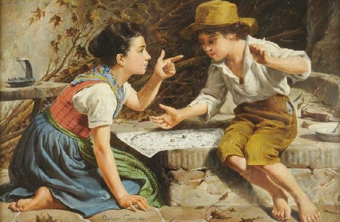 Во что играли дети 150 лет тому назад: Атмосферные картины известных художников
