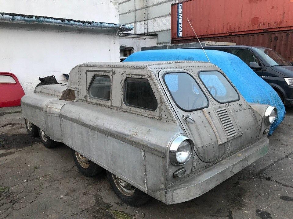В Челябинске нашли советский вездеход 8х8, сделанный из «Победы»