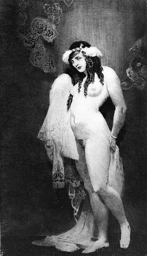 Прелестные нимфы, козлоногие обольстители и демоны в картинах Нормана Линдсея 45