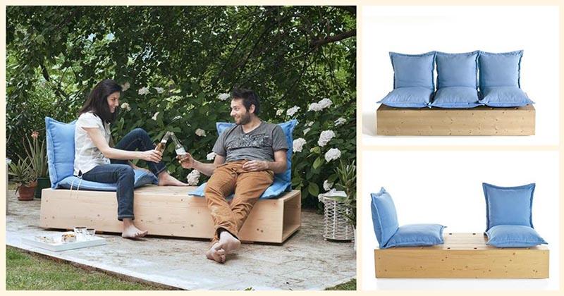Отличная мебель на дачу — практичная софа с секциями