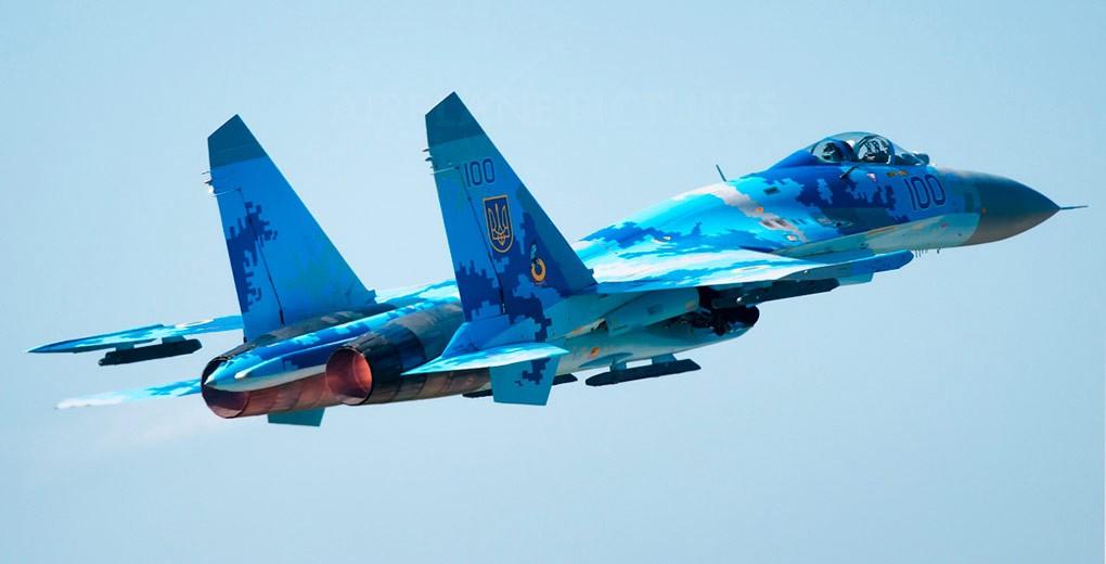 Су-27, разбившийся на Украин…