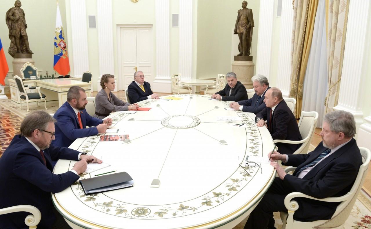 Встреча с кандидатами на должность Президента Российской Федерации