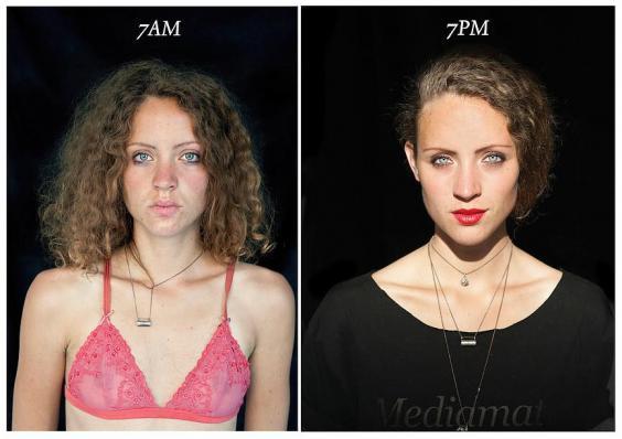 Фотопроект: как люди выглядят в семь утра и в семь вечера