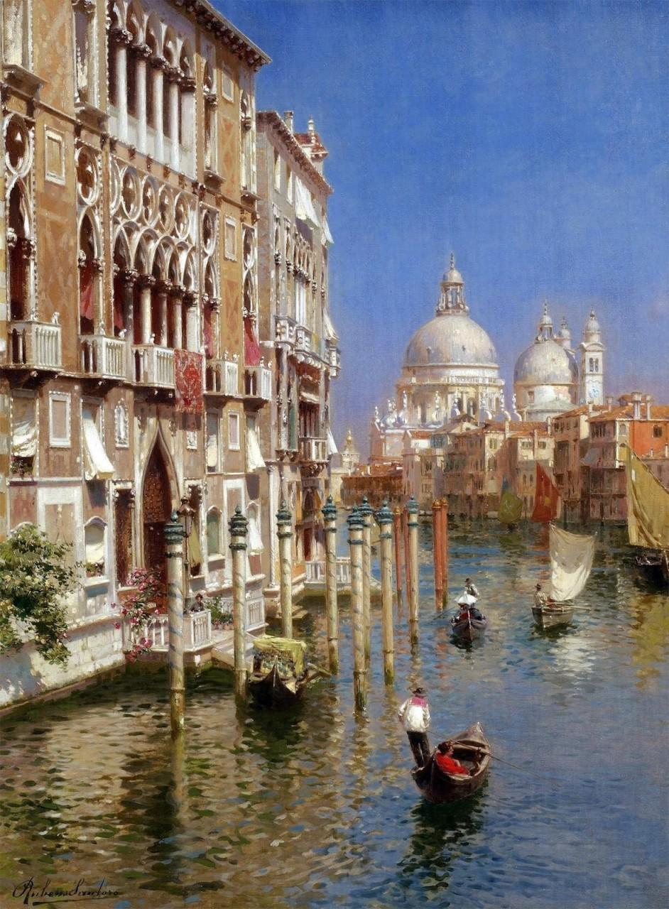 Здесь всё исполнено простора морских кровей, морских глубин… Итальянский художник Rubens Santoro (1859-1942)