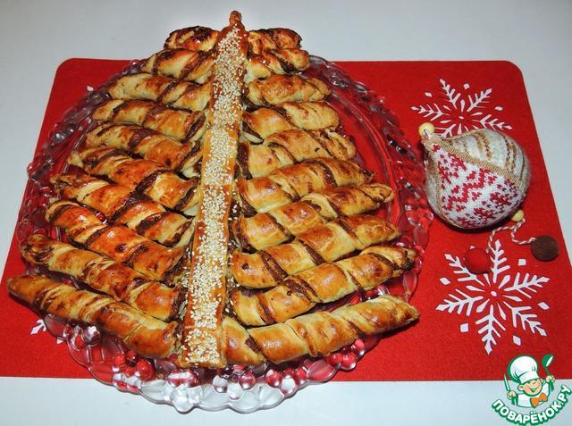"Новогодний пирог ""Финиковая елка"""