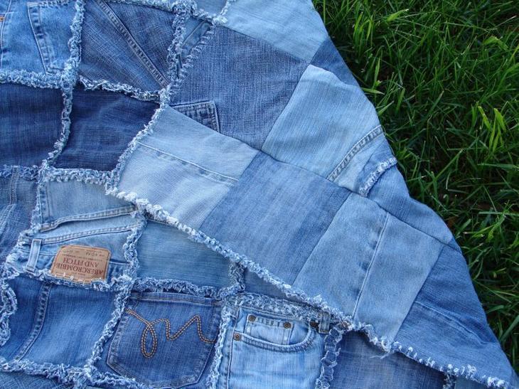Плед из старых джинсов своими руками выкройка 101