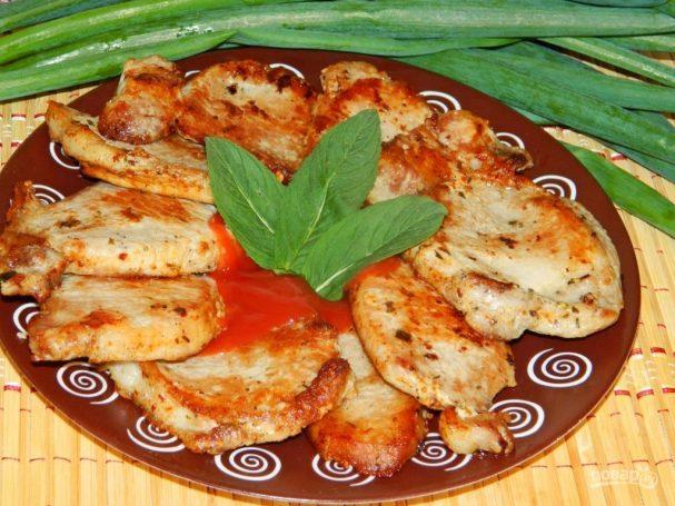 Праздничное мясо в мятном маринаде