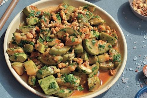 Быстрый салат из кабачков