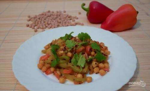 Турецкий горох «Нут» с овощами.