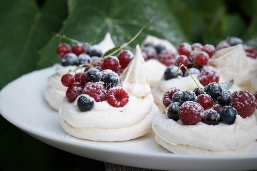 Пирожное Павлова - рецепт с пошаговыми фотографиями