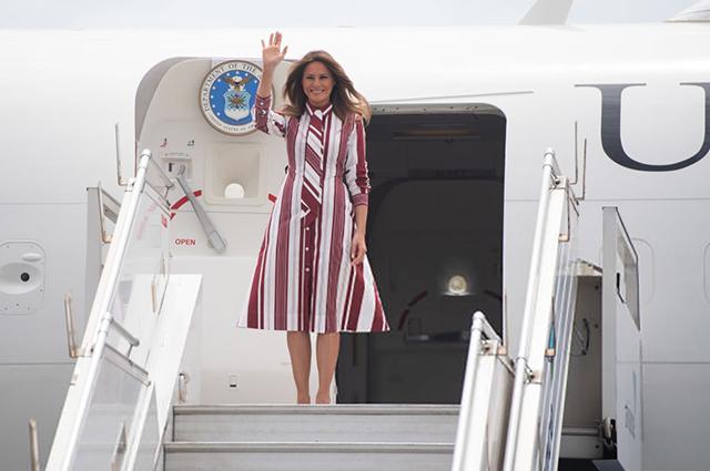 Мелания Трамп прилетела в Га…