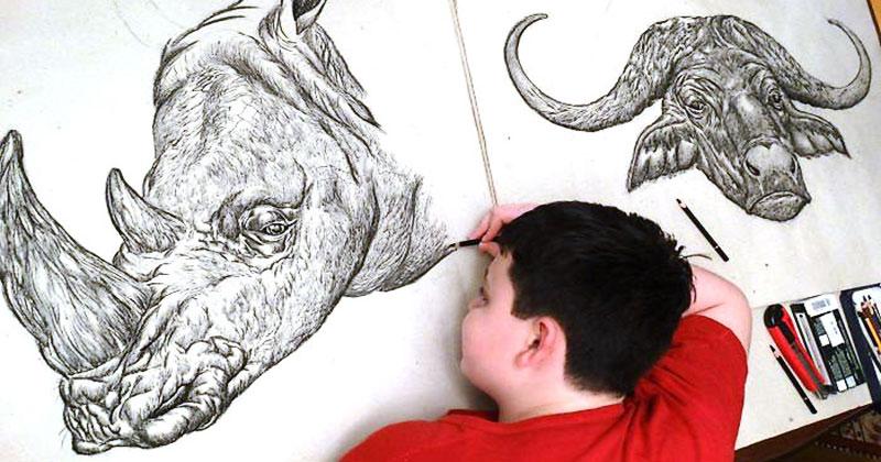 Юный серб рисует с двух лет …