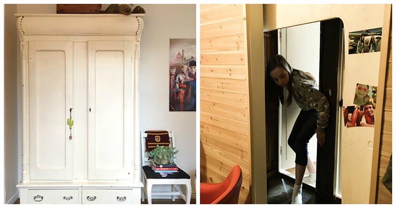 Мама переделала старый шкаф в нечто удивительное. Дочь была в восторге