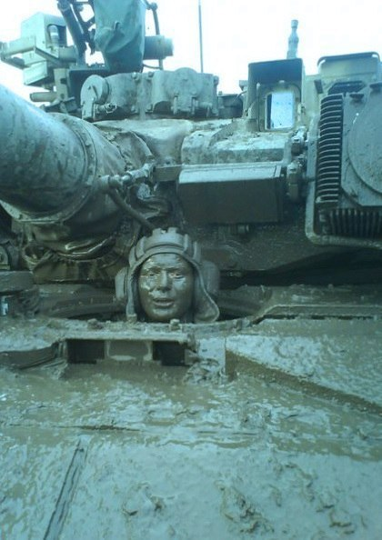 Танкисты грязи не боятся...
