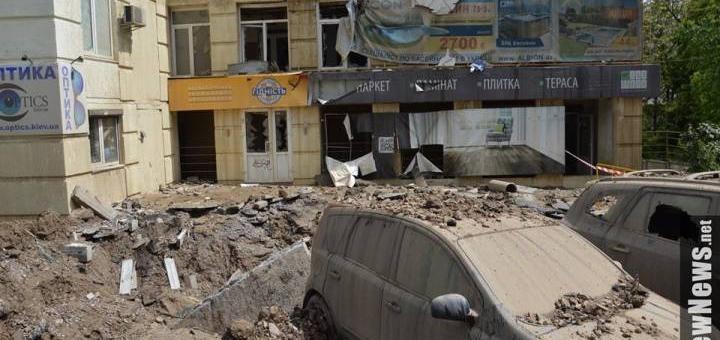 Взрыв пуканов в Киеве
