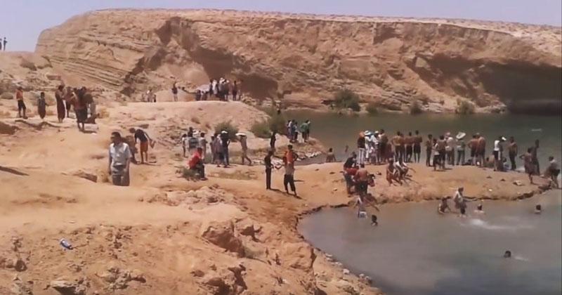 За одну ночь в пустыне появилось озеро. Невероятное чудо природы!