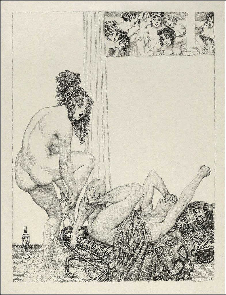 Прелестные нимфы, козлоногие обольстители и демоны в картинах Нормана Линдсея 52