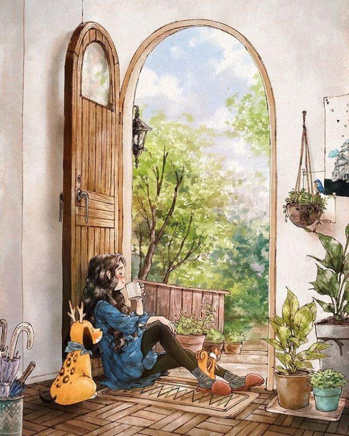 20 теплых иллюстраций об одинокой жизни, в которые невозможно не влюбиться