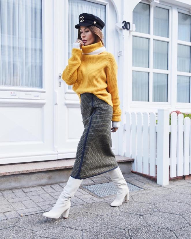 15 стильных осенних образов с юбками