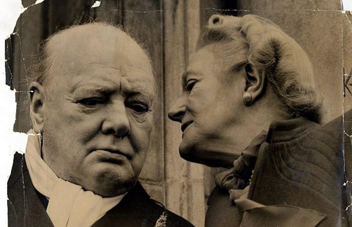 Уинстон Черчилль и Клементин…