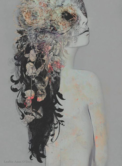 Маска. Автор работ: фото-иллюстратор Лесли Энн О'Делл (Leslie Ann O'Dell).