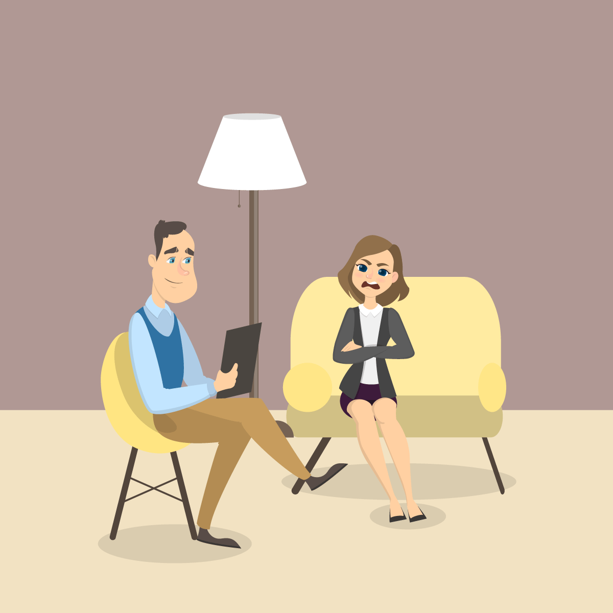 Анекдот про женщину, пришедшую к психологу с серьёзной проблемой