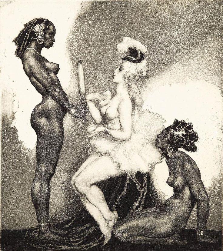 Прелестные нимфы, козлоногие обольстители и демоны в картинах Нормана Линдсея 7