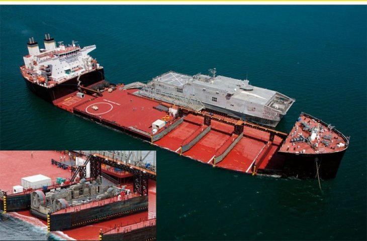 Мобильная платформа десанта или пирс в океане