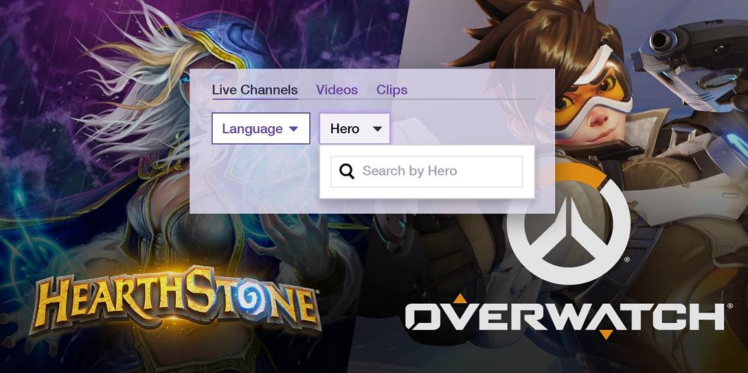 Twitch добавил фильтры для Overwatch и Hearthstone