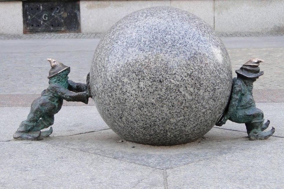 Вроцлавские гномы – городские талисманы