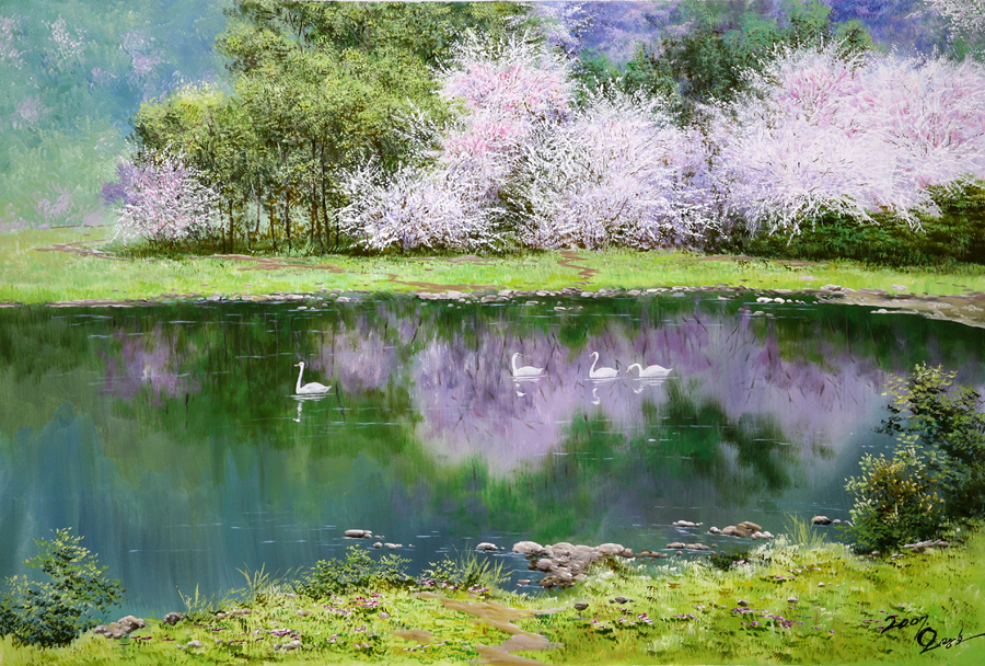 Корейская живопись, художник О Кван-хо