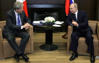 Путин обсудил с премьером Италии ситуацию в Ливии и на Украине