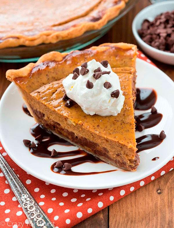 chocolate pumpkin pie 2