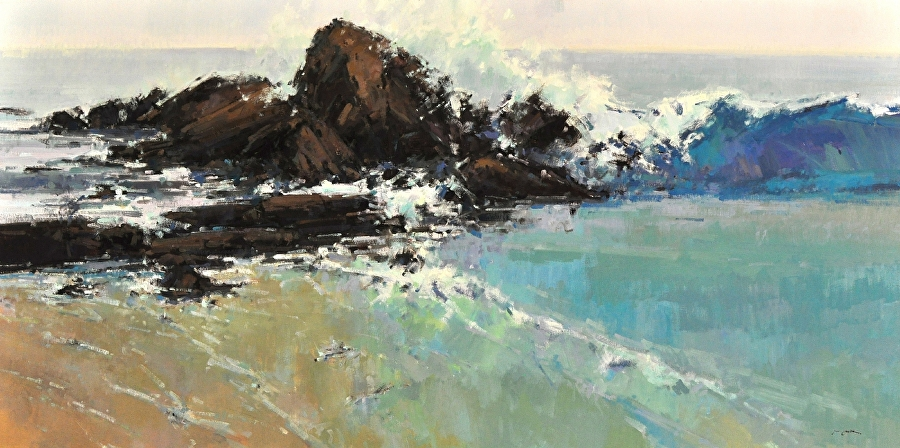 The Wave by Jill Carver Oil ~ 30 x 60
