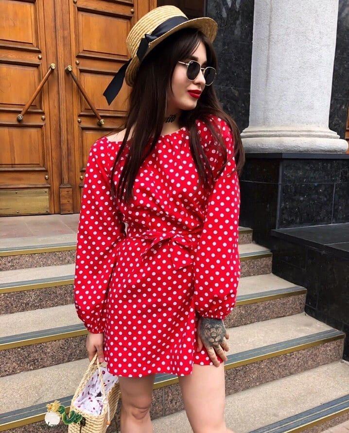 Платье в горошек фото 9