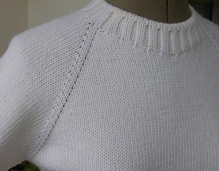 Круговое вязание от горловины