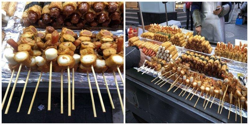 20. Ассорти из рыбных пирожков: $4 еда, еда быстро, сеул, уличная Еда, уличная еда, фастфуд, южная корея
