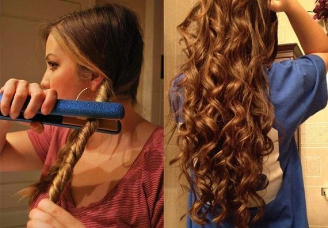 Чем сделать красивые локоны на длинные волосы в домашних условиях фото