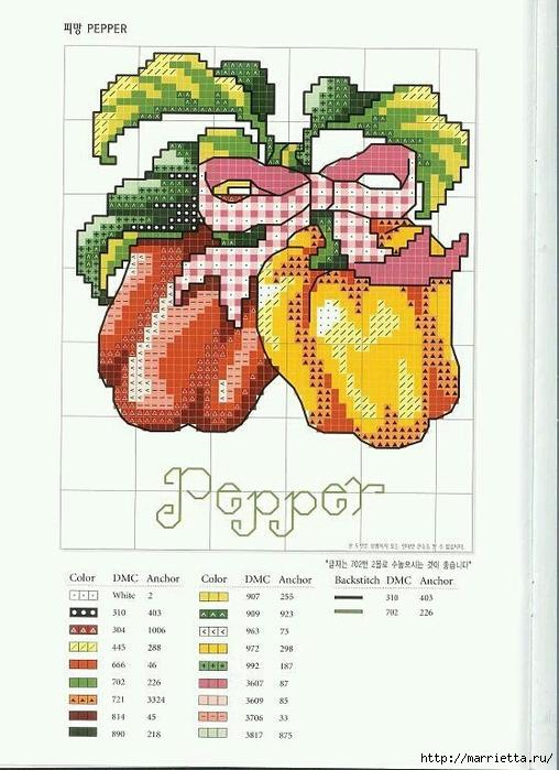 Миниатюрная вышивка. Овощи. Схемы (7) (508x700, 242Kb)