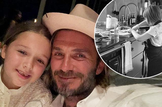 Дэвид Бекхэм похвастался кулинарными навыками дочери и сравнил ее с шеф-поваром Гордоном Рамзи