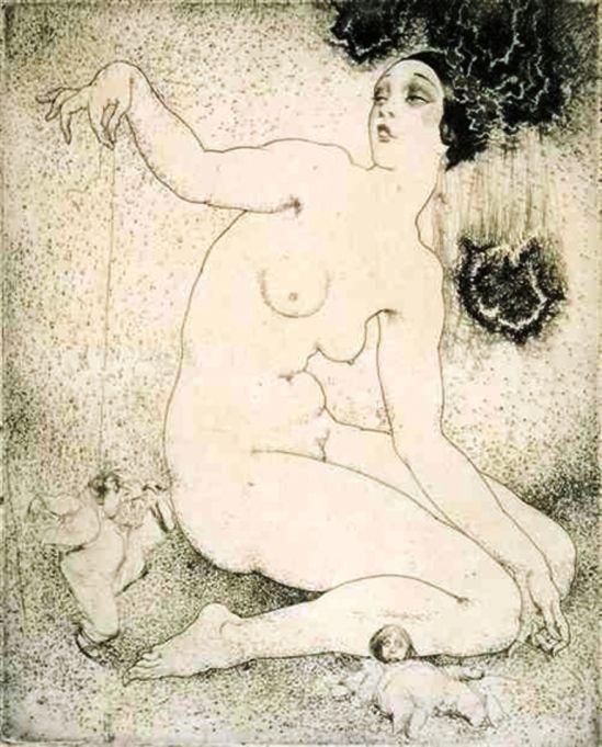 Прелестные нимфы, козлоногие обольстители и демоны в картинах Нормана Линдсея 3