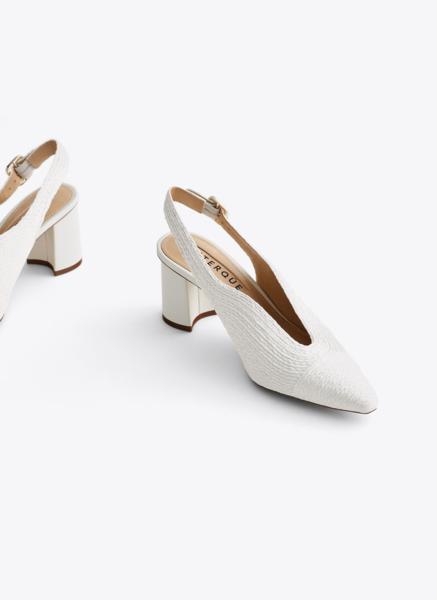 Плетеные туфли без задников Uterque, цена 10 990 руб