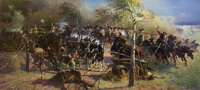 Как русская и прусская армии…