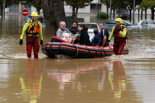 Наводнение на юге Франции