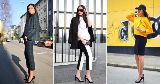 Черные туфли-лодочки – с чем носить и как создавать стильные образы?