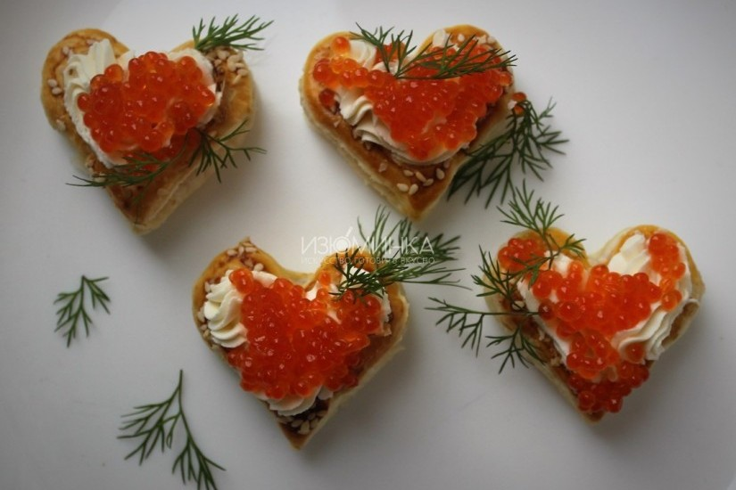 Сердечки из слоеного теста на день Святого Валентина