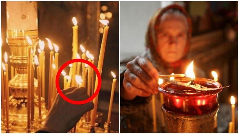 Вот почему нельзя в церкви поджигать свою свечу от рядом стоящей