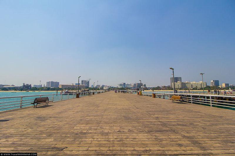 Большой пирс для отдыхающих иран, курорт, остров, персидский залив, рай на земле, туристическая столица